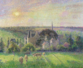 The Church and Farm of Eragny, 1895 Taidejuliste