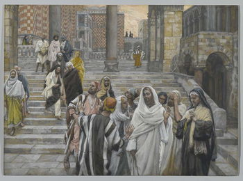 The Disciples Admire the Buildings of the Temple, illustration from 'The Life of Our Lord Jesus Christ', 1886-94 Taidejuliste