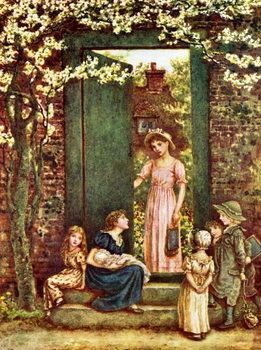 'The open door'   by Kate Greenaway Taidejuliste