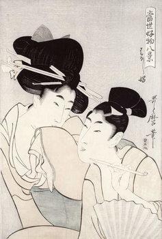 The pleasure of conversation, from the series 'Tosei Kobutsu hakkei' (Eight Modern Behaviours) c.1803 Taidejuliste
