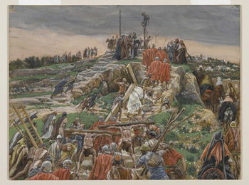 The Procession nearing Calvary, illustration from 'The Life of Our Lord Jesus Christ', 1886-94 Taidejuliste