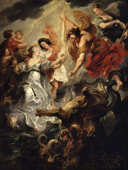 The Reconciliation of Marie de Medici and her son, 15th December 1621, 1621-25 Taidejuliste