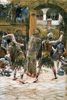 The Scourging, illustration for 'The Life of Christ', c.1884-96 Taidejuliste