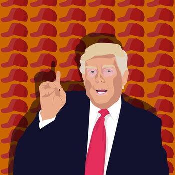 Trump and the baseball cap Taidejuliste