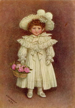'Vera Evelyn Samuel', 1896 by Kate Greenaway Taidejuliste