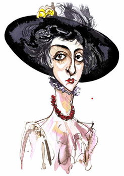 Victoria Mary 'Vita' Sackville-West English poet and novelist ; caricature Taidejuliste