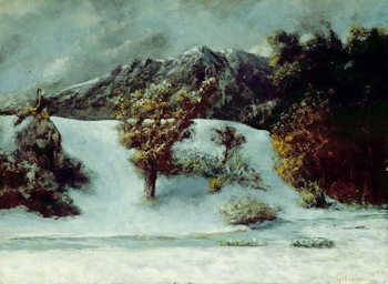 Winter Landscape With The Dents Du Midi, 1876 Taidejuliste