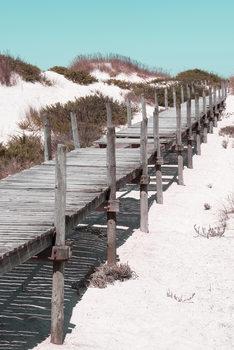 Eksklusiiviset taidevalokuvat Wooden Pier on the Beach