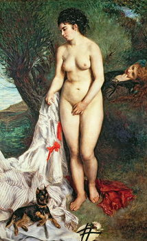 Bather with a Griffon dog, 1870 Taidejuliste