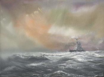Bismarck signals Prinz Eugen 0959hrs 24/051941, 2007, Taidejuliste