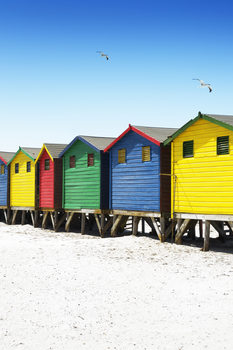 Eksklusiiviset taidevalokuvat Colorful Beach Huts on Muizenberg