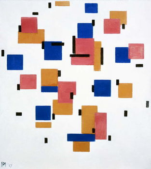 Composition in colour B, 1917 Taidejuliste