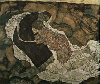 Death and the Maiden , 1915 Taidejuliste