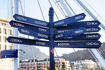 Eksklusiiviset taidevalokuvat Direction Sign from Cape Town