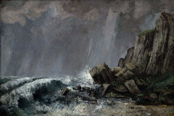 Downpour at Etretat Taidejuliste