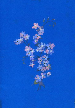 Forget-me-not, 1960s Taidejuliste