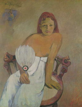 Girl with fan, 1902 Taidejuliste