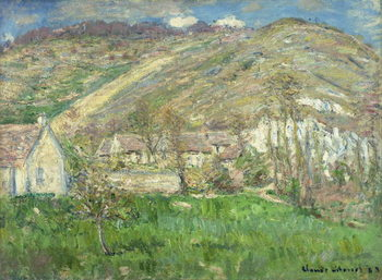 Hamlet in the Cliffs near Giverny; Hameau de Falaises pres Giverny, 1885 Taidejuliste