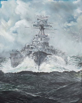 HMS Hood heads for Bismarck 23rd May 1941, 2014, Taidejuliste