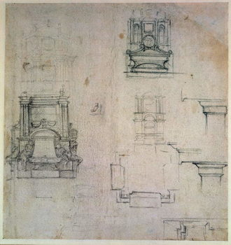 Inv. 1859 6-25-545. R. (W. 25) Designs for tombs Taidejuliste