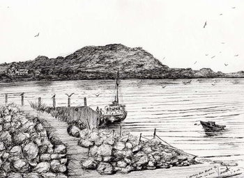 Iona from Mull Scotland, 2007, Taidejuliste