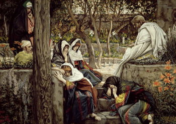 Jesus at Bethany, illustration for 'The Life of Christ', c.1886-96 Taidejuliste