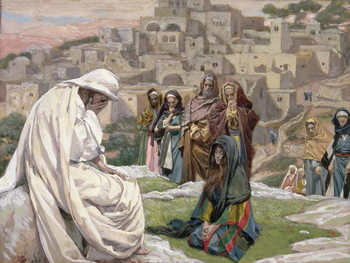 Jesus Wept, illustration for 'The Life of Christ', c.1886-96 Taidejuliste