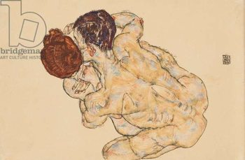 Man and Woman (Embrace); Mann und Frau (Umarmung), 1917 Taidejuliste