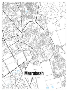 Kuva Map of Marrakesh