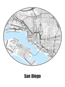 Kuva Map of San Diego