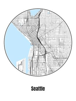 Kuva Map of Seattle