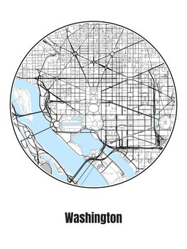 Kuva Map of Washington