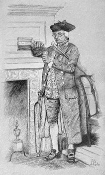 Mynheer's Morning Horn, from Harper's Magazine, 1881 Taidejuliste