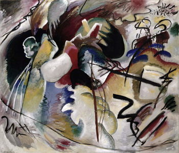 Painting with white form, 1913 Taidejuliste