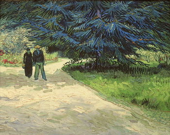 Public Garden with Couple and Blue Fir Tree: The Poet's Garden III, 1888 Taidejuliste