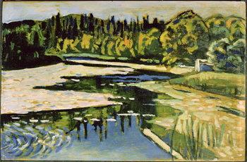 River in Autumn, 1900 Taidejuliste