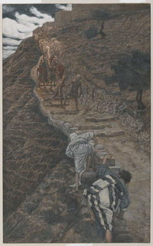 Saint Peter and Saint John Follow from Afar, illustration from 'The Life of Our Lord Jesus Christ', 1886-94 Taidejuliste