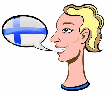 Speaking Finnish - illustration Taidejuliste