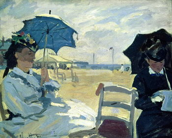 The Beach at Trouville, 1870 Taidejuliste
