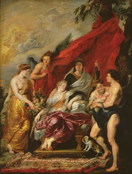 The Birth of Louis XIII (1601-43) at Fontainebleau, 27th September 1601, from the Medici Cycle, 1621-25 Taidejuliste