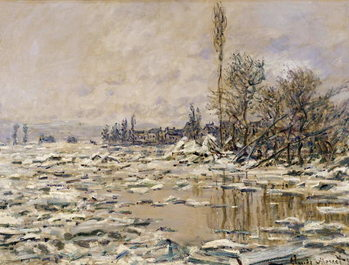 The Break-up of the Ice, 1880 Taidejuliste
