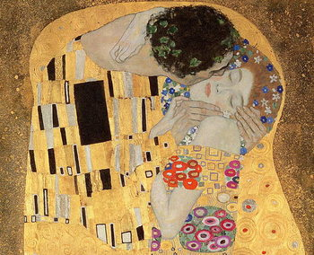 The Kiss, 1907-08 (oil on canvas) Taidejuliste