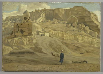 The Mokattam from the Citadel of Cairo, illustration from 'The Life of Our Lord Jesus Christ' Taidejuliste