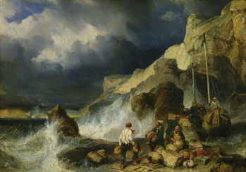 The Onslaught of the Smugglers, c.1837 Taidejuliste
