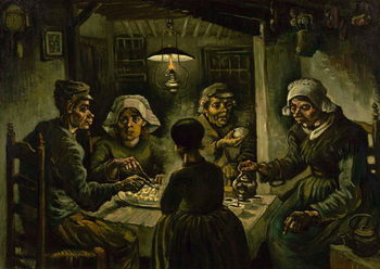 The Potato Eaters, 1885 Taidejuliste