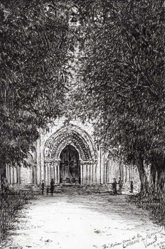 the Roman Door l'abbey de blassimon, 2010, Taidejuliste