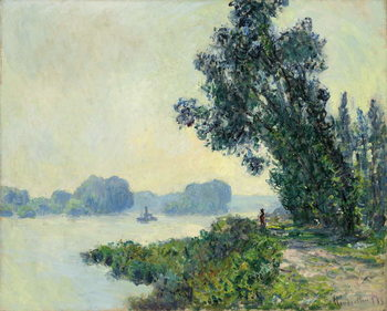 The Towpath at Granval; Le chemin de halage a Granval, 1883 Taidejuliste