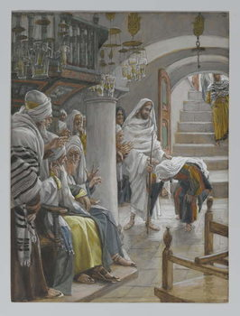 The Woman with an Infirmity of Eighteen Years, illustration from 'The Life of Our Lord Jesus Christ', 1886-96 Taidejuliste