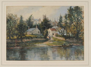 Wetheral Ferry, 1840-43 Taidejuliste
