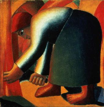 Woman Cutting, c.1900 Taidejuliste